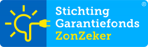 Logo ZonZeker van Stichting Garantiefonds Zonzeker.